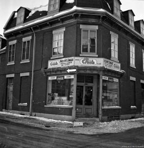 Secteur de l'Autoroute Ville-Marie, avant la destruction. 1963 Crédit photo : Archives de Montréal