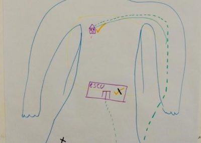 Cartographie corporelle de la participante H.
