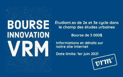 Concours – Bourse Innovation VRM