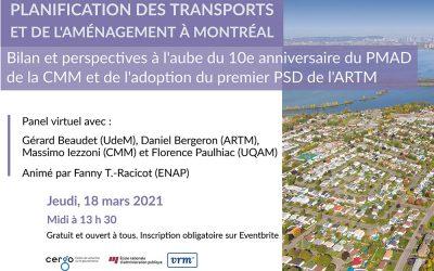 Table ronde virtuelle – Planification des transports et de l'aménagement à Montréal