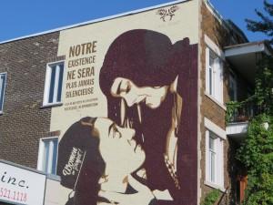 Murale de l'artiste Jessica Sabogal à l'angle des rues Masson et De Lorimier. MCG 2017