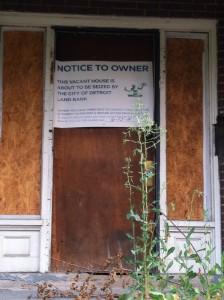 Saisie d'une maison, Ville de Détroit 2014, Maude Cournoyer-Gendron,