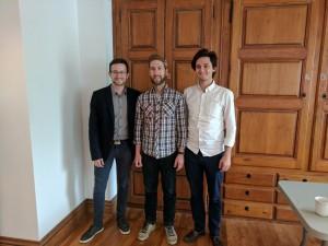 De gauche à droite : Simon Charron, Maxime Houde et Vincent Lacharité-Laframboise