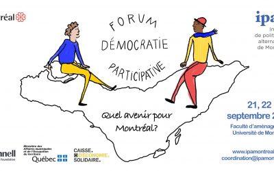 Compte rendu – Forum démocratie participative : quel avenir pour montréal ?