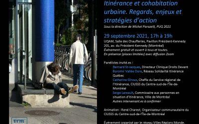 Lancement d'ouvrage : Itinérance et cohabitation urbaine. Regards, enjeux et stratégies d'action (sous la dir. de Michel Parazelli, PUQ 2021)