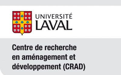 Le Centre de recherche en aménagement et développement (CRAD) a tenu son Assemblée générale