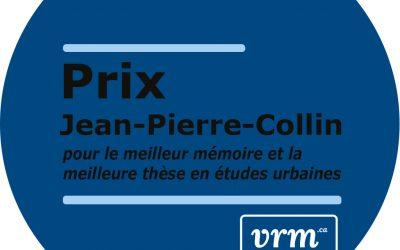 Annonce des récipiendaires du Prix Jean-Pierre-Collin