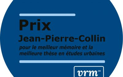 Appel de candidatures – Prix Jean-Pierre-Collin