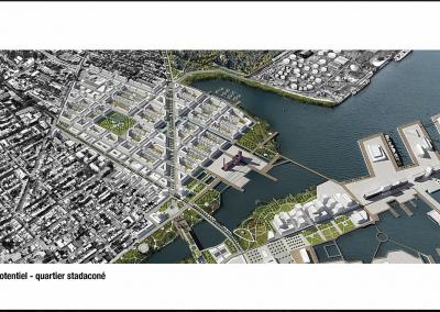 Potentiel de développement, projet « Québec, ville résiliente », Quartier Stadaconé, Québec.