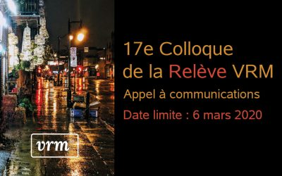 17e Colloque de la Relève VRM – La ville juste est-elle possible ?