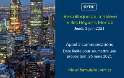 18e Colloque de la Relève VRM – Appel à communications