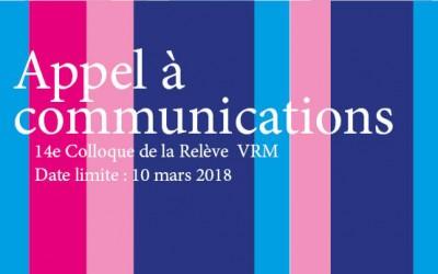 2017-06-01 / 14e Colloque de la Relève VRM – Comprendre, lire et interpréter la ville