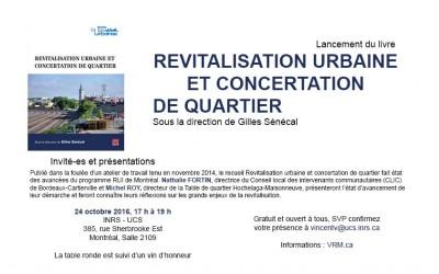 2016-10-24 Lancement du livre «Revitalisation urbaine et concertation de quartier»