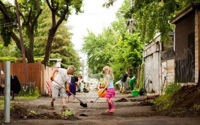 Les ruelles vertes et bleues-vertes comme espace d'engagement citoyen