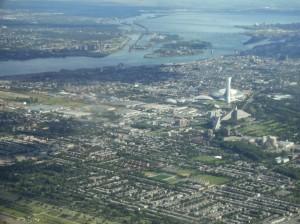 Vue aérienne de Montréal,