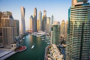 Marina de Dubaï 2013. Plan par la firme HOK Canada. Image libre de droits.